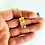 Thumbnail: Stud Earrings (Amethyst Slice) (Rectangle shape)