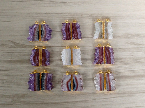 Amethyst Slice Pairs (Rectangle) l
