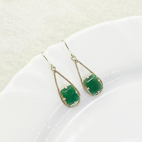Dangle Earring (Green Quartz)