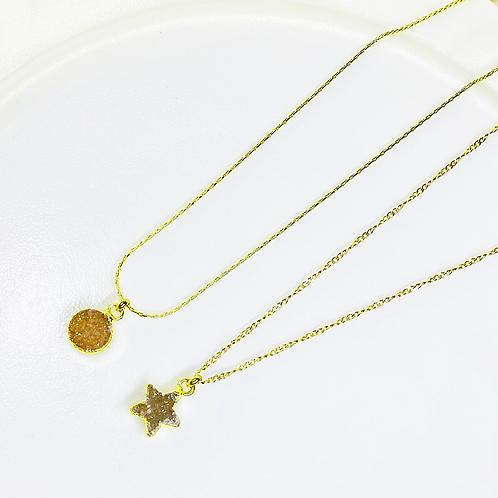Necklace (Druzy)(Chains: 40 cm)
