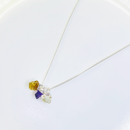Necklace (Amethyst,Citrine and Quartz)(Chain:40 cm)