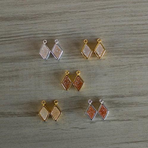 Diamond Druzy Pairs (9 mm)