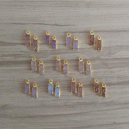 Tiny Bar Druzy pairs (12-15 mm)