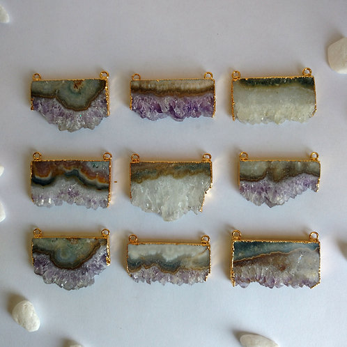 Amethyst Slice Connector (Rectangle)