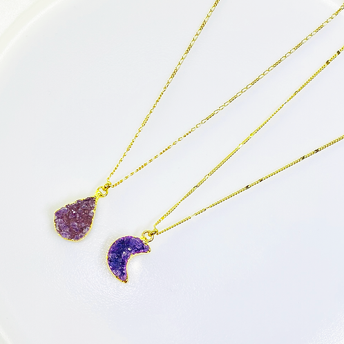 Necklace (Amethyst)(Chains: 40 cm)