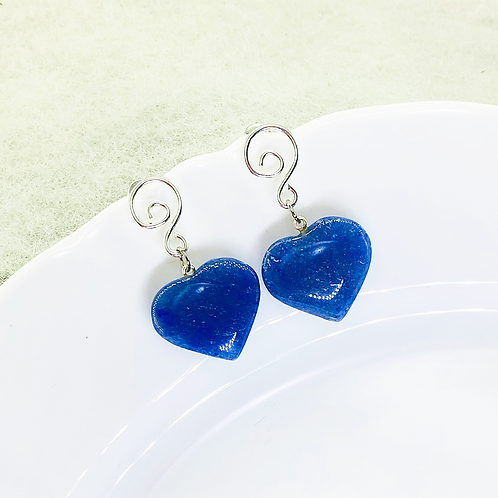 Earrings (Blue Quartz)