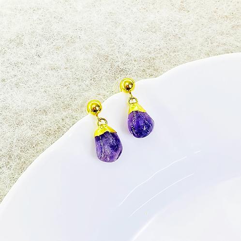 Earrings (Amethyst)