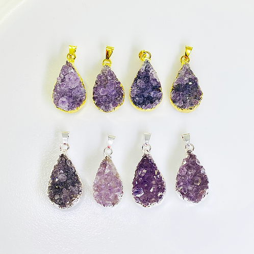 Amethyst Pendants (Teardrop Shape)