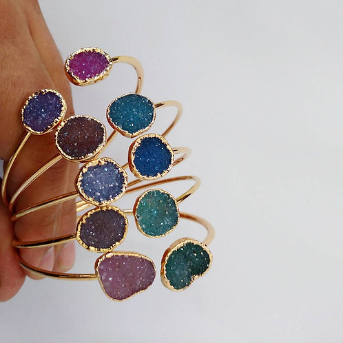 Dual Druzy Bracelet (Mixed Colors)15-20 mm