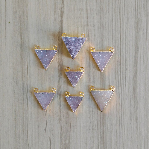 Triangle druzy connector (15-25 mm)