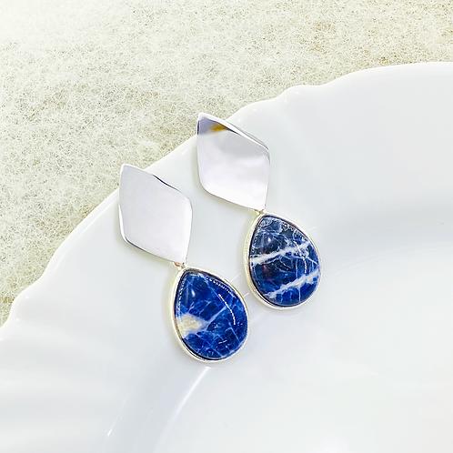 Earrings (Sodalite)