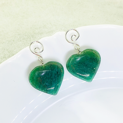Earrings (Green Quartz)
