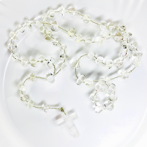 Rosary Beads (Crystal Quartz)