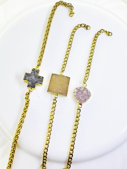 Bracelets Chain (Druzy)