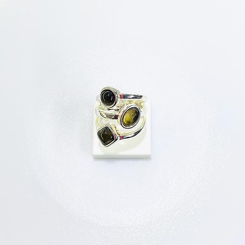 Triple Ring (Smoky Quartz)