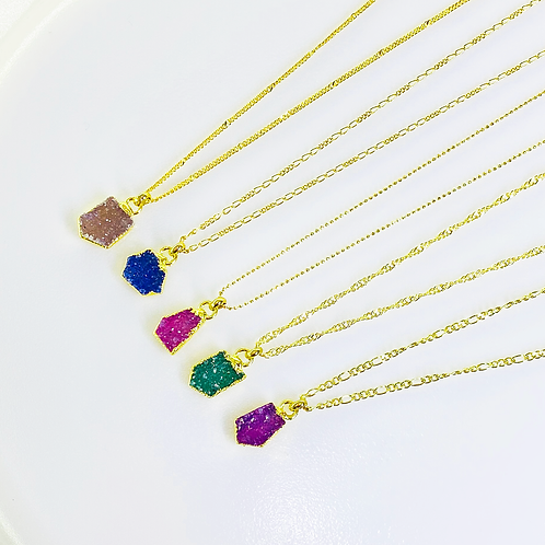 Necklace (Druzy)(Chains: 40 and 45 cm)