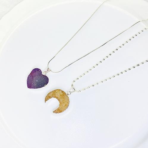 Necklace (Druzy)(Chains: 50 cm)