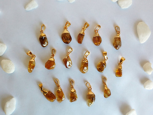 Tumbled Citrine pendants