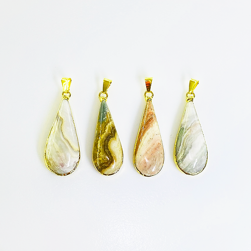 Jasper Pendants (Teardrop Shape)