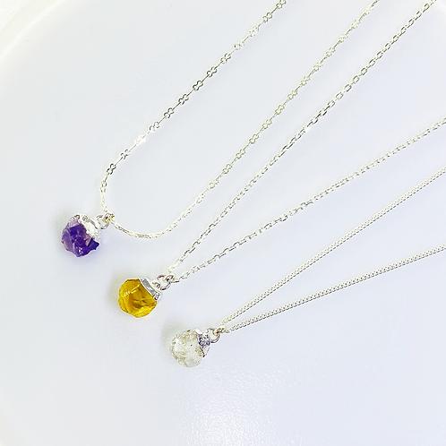 Necklace (Amethyst,Citrine and Quartz)(Chain:40 cm)