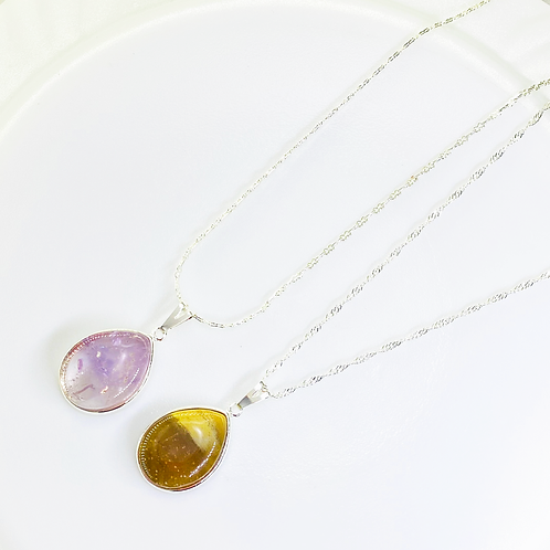 Necklace (Amethyst, Jasper) (Chains: 40 cm)