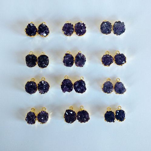 Amethyst Cluster Pairs