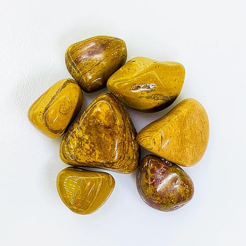 Mustard jasper Tumbled (100 grams/0.220 LB) or (1 Kg / 2.20 LB)