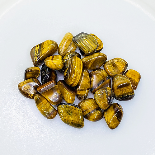 Tiger's Eye Tumbled (100 grams/0.220 LB) or (1 Kg / 2.20 LB)