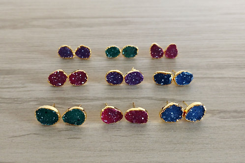 Druzy Stud (Freeform) (8-12 mm)