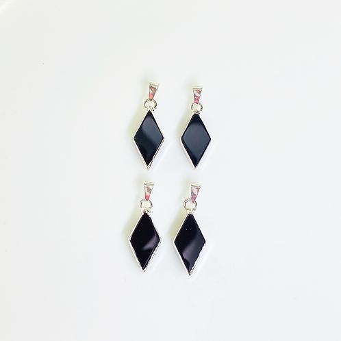 Agate Pendants (Diamond Shape)