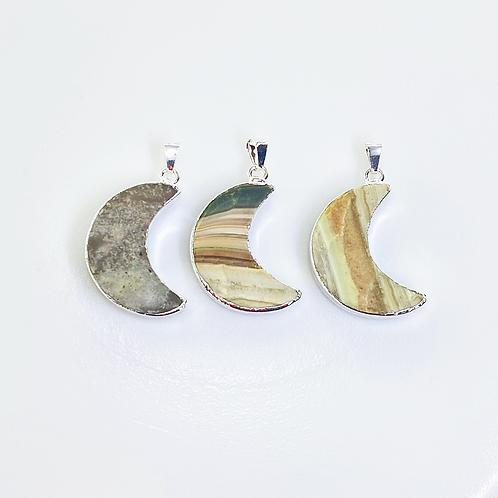 Jasper Pendants (Moon Shape)