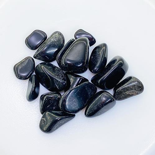 Black Obsidian Tumbled (100 grams/0.220 LB) or (1 Kg / 2.20 LB)