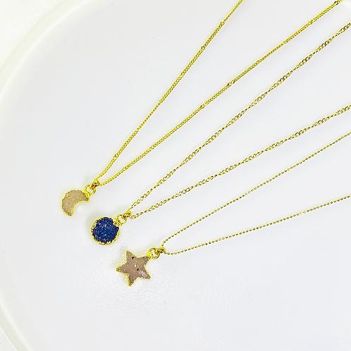 Necklace (Druzy)(Chains:40 cm)