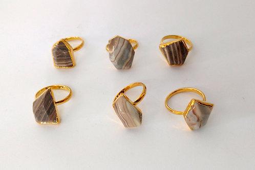 Freeform Jasper ring (Sized)