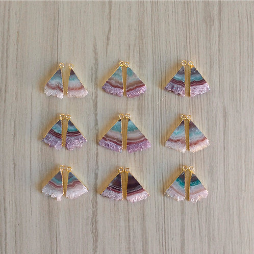 Amethyst Slice pairs (Triangle) (20 mm)