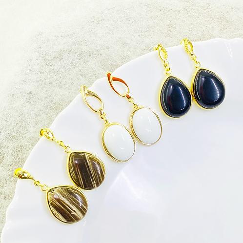 Earrings (Jasper- Dolomite -Onix)