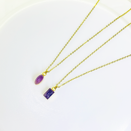 Necklace (Amethyst)(Chains: 50 cm)