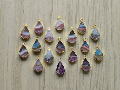 Amethyst Slice Teardrop (20 mm)