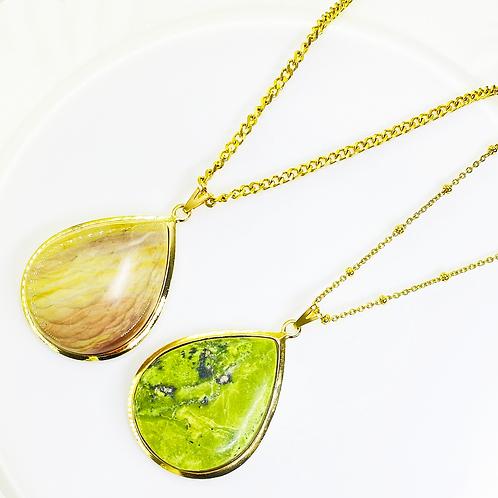 Necklace (Jasper)(Chains: 50 - 55cm)