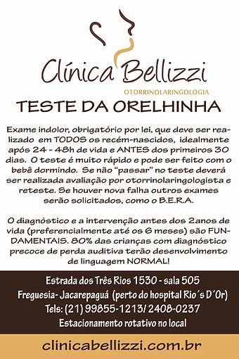 TESTE ORELHINHA JACAREPAGUÁ FREGUESIA