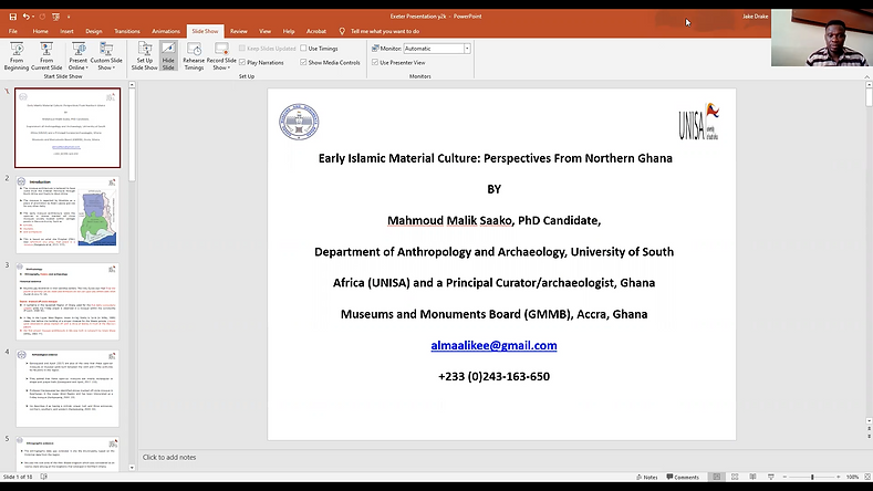 Mahmoud Malik Saako's GIAS2020 talk
