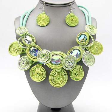 Light Green Wire Collar $20