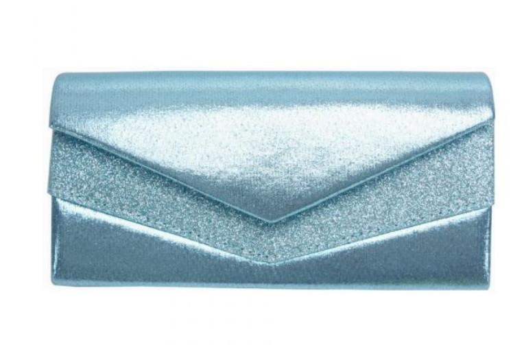 Aqua Glitter Cluth $20