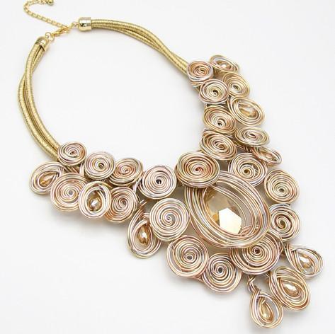 Wire Gold Glass Bib $25