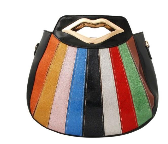 Black Shell Shaped Retro Glitter $30