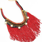 Red Rope Fringe Pearl $15
