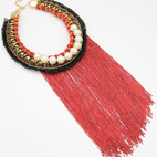 Red Fringe Pearl Long $15