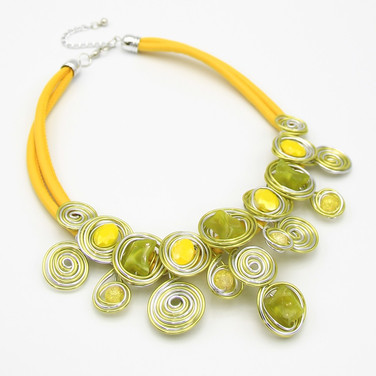 SOLD OUT Yellow Wire Collar $20
