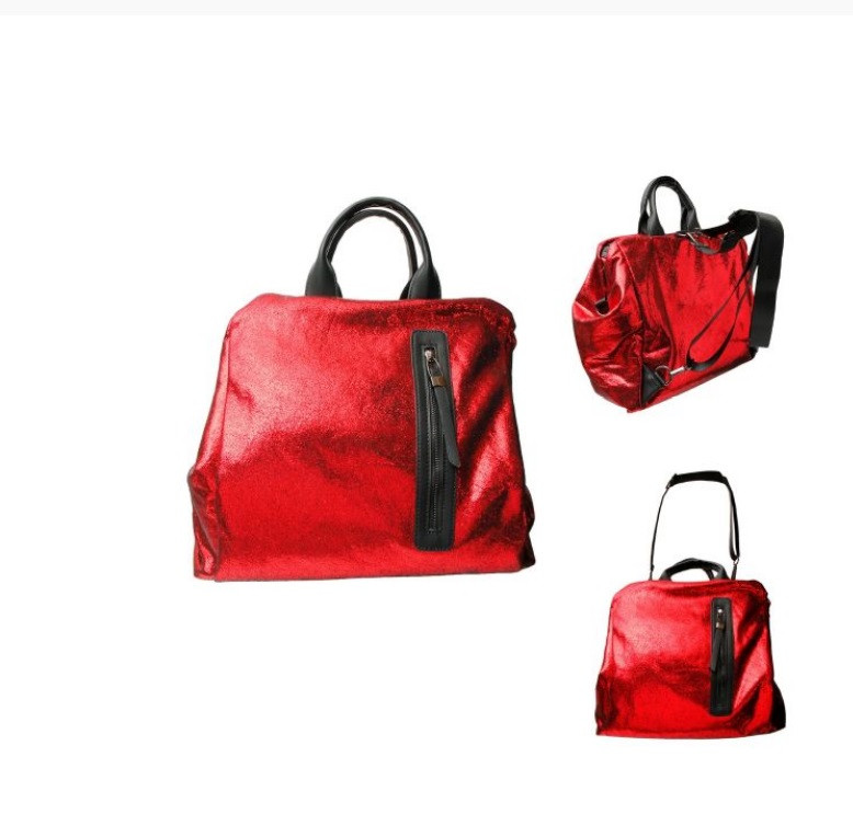 Red Shiney Convertiable Bag $40