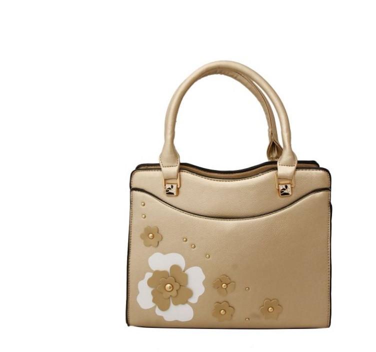 Gold Foral Bag $40